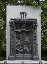 天文学者ダスコリが焼かれている地獄の門