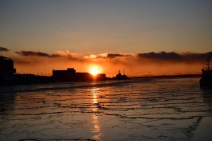 釧路港の夕日 2